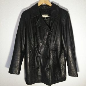 Laura Leigh Double Breasted Leather Jacket Size S